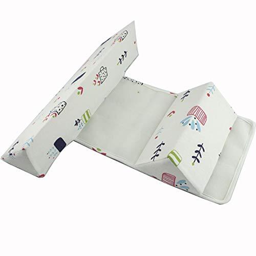 Babys Seite Schlafkissen Abnehmbares Herausnehmbares und Waschbares Anti-Rolling Seitenstützkissen Dreieck Lagerungskissen Kopfkissen 0-6 Monate