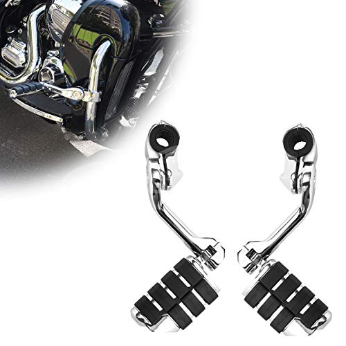Motorcycle Footpegs Foot Rest Highway Pegs Foot pegs (Chrome) for Road King Street Glide Honda Suzuki Yamaha Kawasaki Engine Guard
