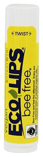 Bee Free Vegan Lemon-Lime ECO LIPS .15 oz Lip Balm