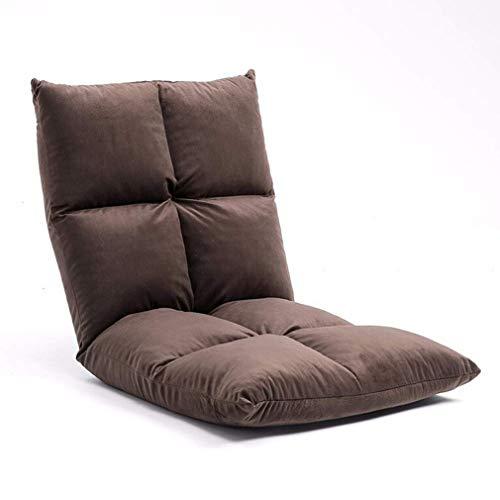 TWDYC Piso Plegable Gaming Sofá Silla Tumbona Plegable Posición Ajustable Cama Sofá Cama Sillón reclinable (Color : Brown)