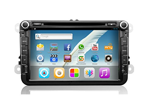 YHT 2 DIN 8-inch Full-featured Models Vw Common Touch U Disk, Sd Card Multimedia Player