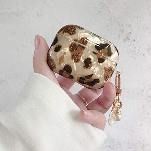 Unique Luxury Leo Pard Pearl Case For Airpods 1 2 3 Bracelet Chain Case For Airpods Pro Case Bluetooth Earphone Accessories Box (Color : For AirPodsPro)