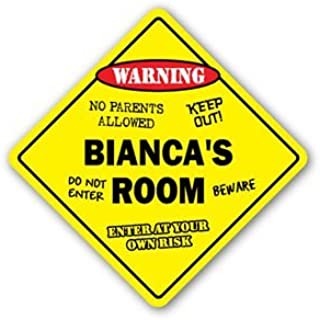 BIANCA'S ROOM Sticker Sign kids bedroom decor door children's name boy girl gift - Sticker Graphic Personalized Custom Sticker Graphic