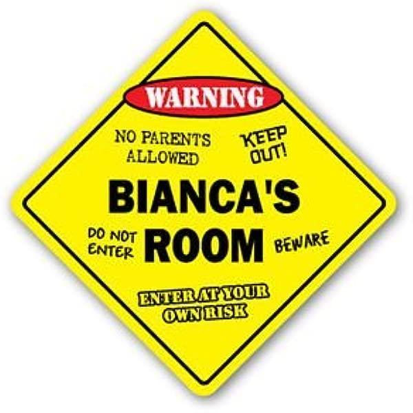 BIANCA S ROOM Sticker Sign Kids Bedroom Decor Door Children S Name Boy Girl Gift Sticker Graphic Personalized Custom Sticker Graphic