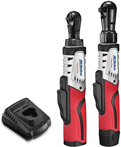 "ACDelco ARW12103-K8 G12 Series 12V Li-ion Cordless ¼"" & 3/8"" Brushless Ratchet Wrench Combo Tool Kit"