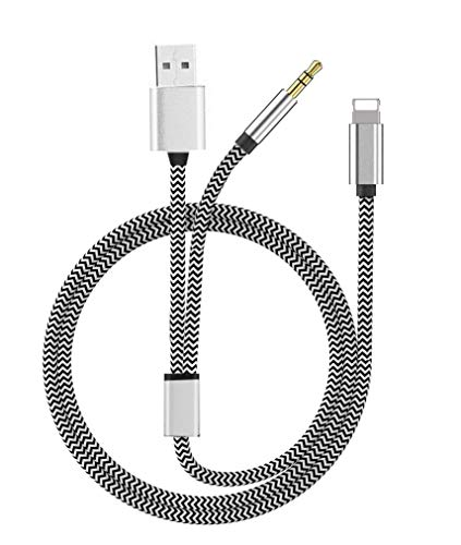 Aux Kabel für iPhone 8, 3,5mm Premium Aux Kabel Auto für iPhone iPad, iPod, iPhone8/8+/X,Home/Auto-Stereoanlagen
