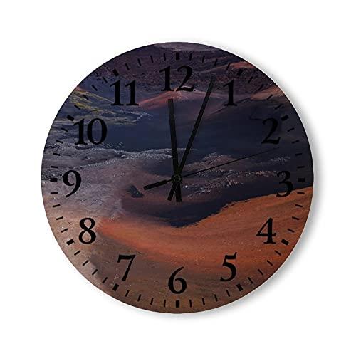 Reloj de pared de madera, rústico, de madera, funciona con pilas, 12 pulgadas, el cañón rojo, relojes decorativos para paredes, moderno, para cocina, dormitorio, baño, sala de estar