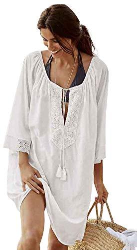 Vestido Playa Mujer Talla Grande Bohemio Hippie Chic Vestido