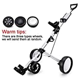 Best Golf Pull Carts - April Story Push Pull Golf Cart 4 Wheels Review