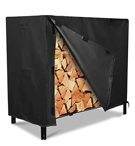 Firewood Rack Cover, NASUM Outdoor Log Rack Cover 4 Feet 600D Waterproof, 48(L)x24(W)x42(H) inches