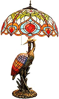 Lampe de Table European Retro Creative Table Lamp Stained Glass Living Room Dining Room Bedroom Bedside Lamp Hotel Decorat...