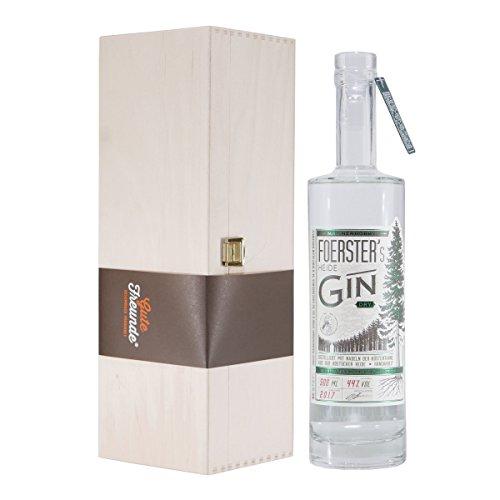 Foerster's Heide Dry Gin mit Geschenk-Holzkiste