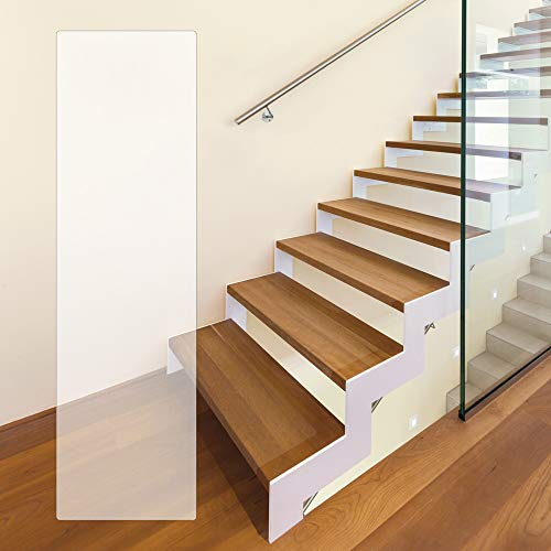 PremiumPlus Antirutschfolie Anti-Rutsch Stufenmatten für Treppen, extrem dünn, transparent, selbstklebend, Rutschhemmung R10, 200 x 700 mm - rechteckig