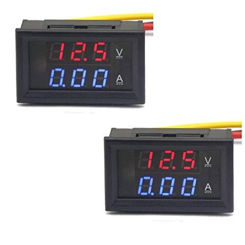 HiLetgo 2pcs DC0-100V Voltage 10A Voltmeter Ammeter Current Meter 2-in-1 Digital Multimeter...