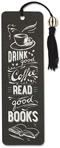 Coffee & Books Beaded Bookmark