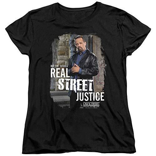 Law & Order: SVU Street Justice Women's T Shirt, Black, Small