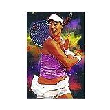 Poster de tennis Ana Ivanovic 03 sur toile pour chambre à coucher, décoration sportive, paysage, bureau, chambre, cadeau, sans cadre : 30 × 45 cm