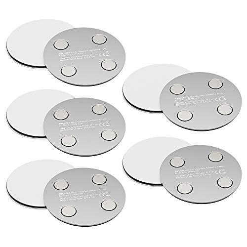 [10 Stück] Rauchmelder Magnethalterung Selbstklebende Magnethalter zur einfachen & sicheren Befestigung ohne Bohren und Schrauben, Ø 70mm, MA02