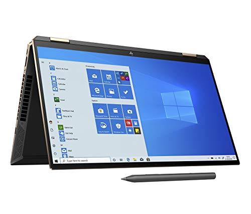 HP Spectre x360 15-eb0003na 15.6 Inch 4K Convertible Laptop with Stylus, Nightfall Black (Intel Core i7-10750H, 16GB RAM, 512GB SSD,NVIDIA GeForce GTX 1650 Graphics, 4GB Dedicated, Windows 10 Home)