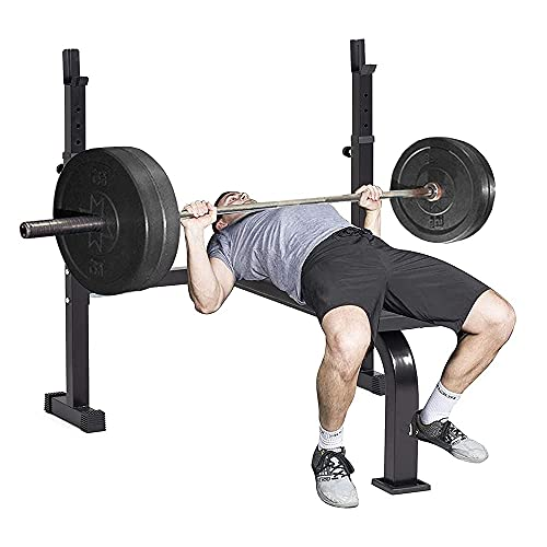 40-inch Wide Adjustable Barbell Rack Olympic Weight Bench with 6-Level Height-Adjustable Workout Bench for Home Gym, Strength Training Equipment