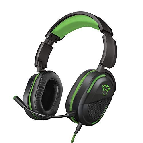Trust GXT 422G Legion Gaming Headset fur Xbox One 50 mm Aktivlautsprecher Drehbare Ohrmuscheln Abnehmbarer Mikrofon schwarz
