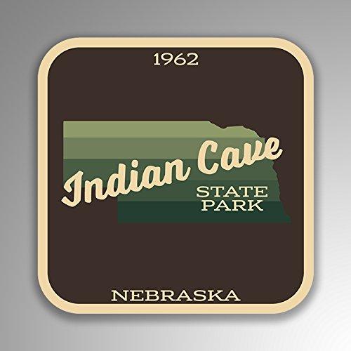 JMM Industries Indian Cove State Park Nebraska Vinyl-Aufkleber, Retro-Vintage-Look, 10,2 x 10,2 cm, Premiumqualität, UV-Schutz-Laminat SPS384