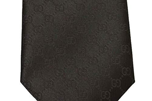GUCCI(グッチ)ネクタイメンズGGパターン柄シルクネクタイ(サイズ剣幅8cm)egc20s001456520-1000ブラック