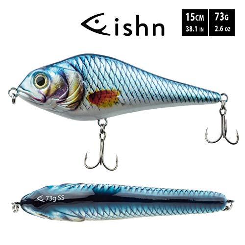 FISHN JERKYONE Jerkbait - Poids: 73g - Longueur: 15cm,...