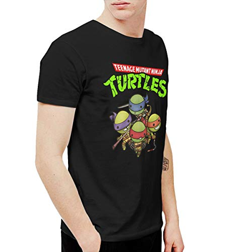 Amerltees Men's Teenage Mutant Ninja Turtles Group Short Sleeve T-Shirt Black 5XL
