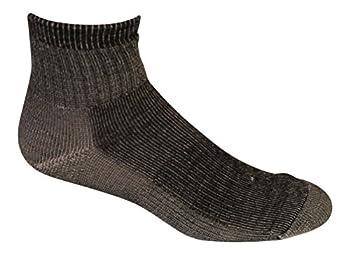 jgs Merino Wool Hiking 1/4 Socks  Pack of 3  - Made in USA  Black Medium  Womens 6-8.5 Mens 4-9