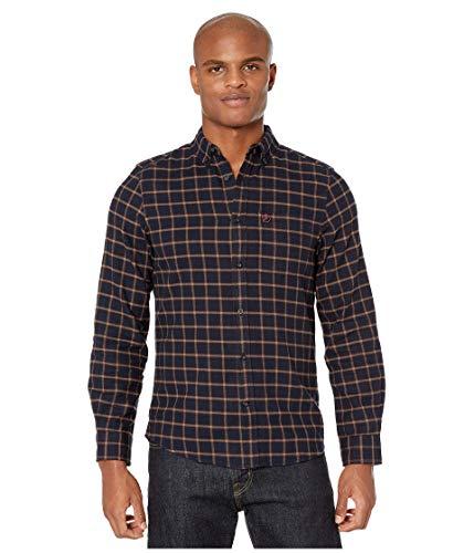 FJALLRAVEN Herren Övik Flannel Shirt M Hemd, Dunkelblau, XL