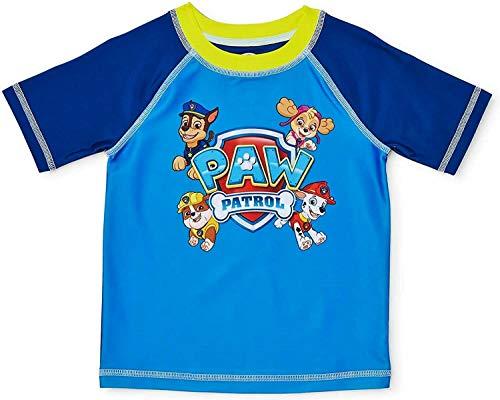 Baby Toddler Boy Rashguard Swim Shirt (5T, Blue Paw Patrol)