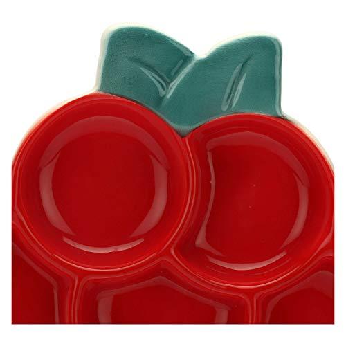THUN ® - Antipastiera a Forma di Lampone - Linea Frutti Rossi - Ceramica - Ø 23 cm