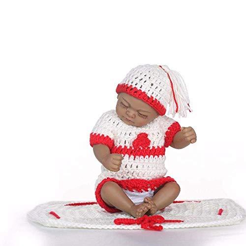 Reborn Dolls, Reborn Baby Doll Premature Newborn 26 Cm Silicona Suave Vinilo Simulación Palm Doll Juguetes de baño