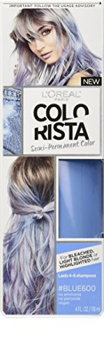 L'Oreal Paris Colorista Semi-Permanent Hair Color for Light Bleached or Blondes, Blue