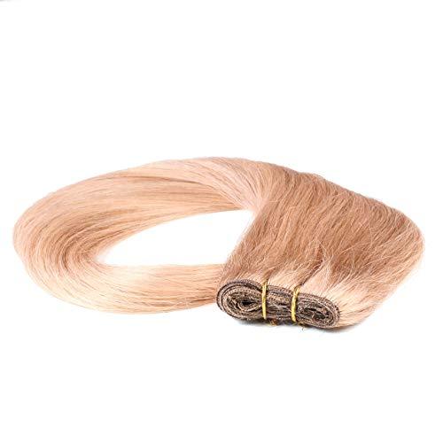 hair2heart 100g Echthaar-Tresse - glatt - 60 cm - #10 straßenköterblond
