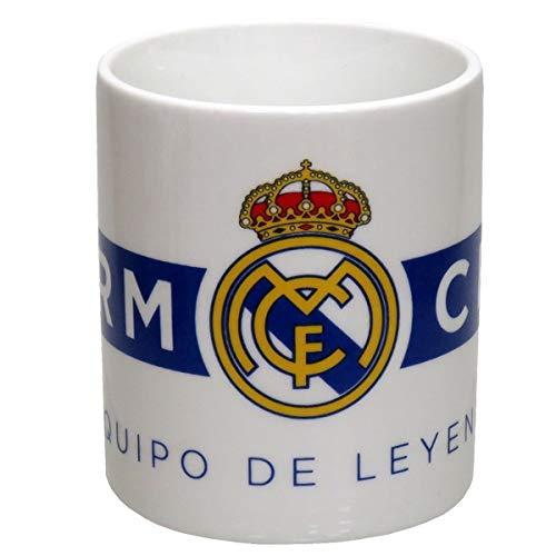 Real Madrid - Tazza in ceramica in scatola, per adulti, unisex, colore: bianco, taglia unica