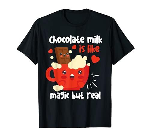 Il latte al cioccolato è come la magia, ma vero kawaii Maglietta