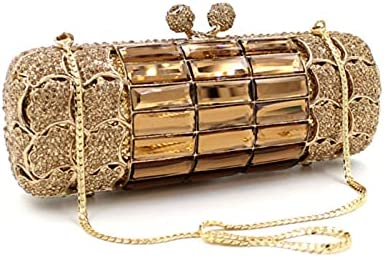 Gold Diamond Wedding Dress Clutch Bag Bridal Crystal Handbags Purses Metal Women Clutches Designer Evening Bags
