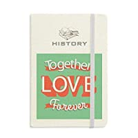 一緒に永遠の愛のバレンタインの日 歴史ノートクラシックジャーナル日記A 5