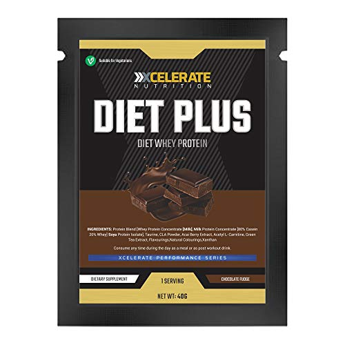 XCelerate Nutrition Diet Shake 20 Sachets Powder Shakes for Weight Loss for Women Men Low Calories Sugar Whey Protein Ultralean Lean Meal Replacement Shake (Chocolate, 20 x Sachets)