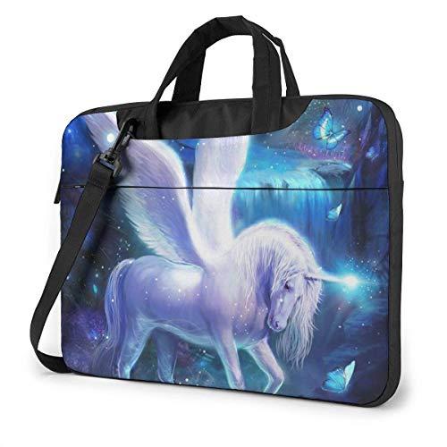 Cool Pegas-us U-nicorn Unisex Laptop Bag Messenger Bolsa de Hombro para computadora Maletín Funda de Transporte