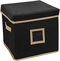Vouch Storage Box Square, Foldable Organizer with Lid, Storage Container, Plain, Small Size (25 x 25 x 25 cm)- Pack of 1...