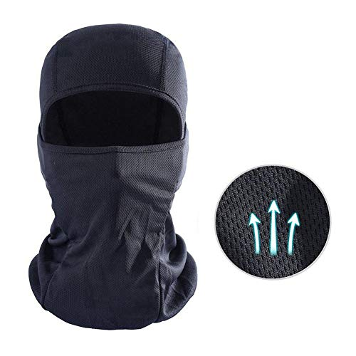 Balaclava Breathable Motorcycle Face Mask Lightweight Adjustable Full Face Mask for Skiing, Cycling, Running, Fishing, Outdoor Tactical Training, Wind Dust Pollution Rain Sun Protection