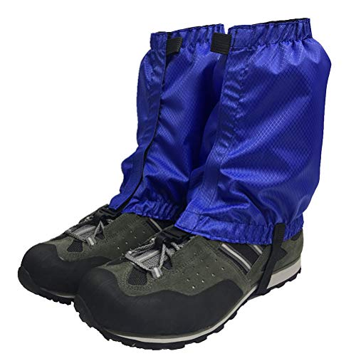 VORCOOL 1 Paar Schnee Gamaschen Leichte Wasserdichte Knöchel Gamaschen für Outdoor Wandern Klettern (Blau)