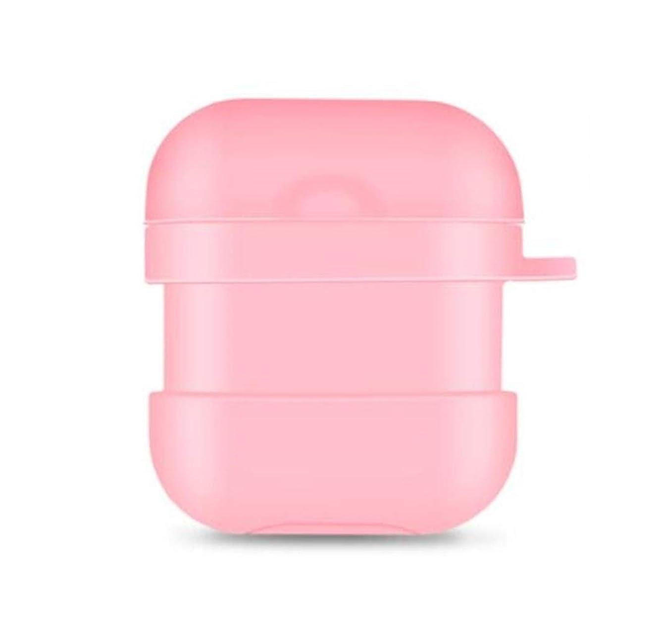 回復オペレーターニンニクHongyunshanghang001 ヘッドセットセット、AirPodsケースシリコンケース - Airpods2ワイヤレスBluetoothヘッドセットセット - 紛失防止ロープフック - カップルプレゼント - パウダー 繊細で美しい (Color : Pink)