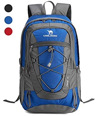 CAMEL CROWN 30L Lightweight Travel Backpack Outdoor Mountaineering Hiking Daypack with Durable & Waterproof