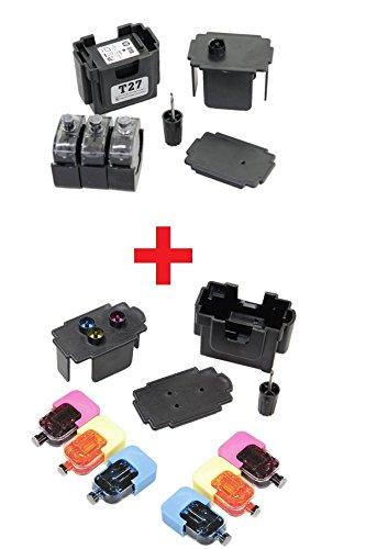 EASY-REFILL Nachfüllset - Befülladapter und Premium-Tinten für PG-540 black und CL-541 color (XL). Druckerpatronen ganz einfach selbst nachfüllen! Mit Video-Befüllanleitung in Youtube