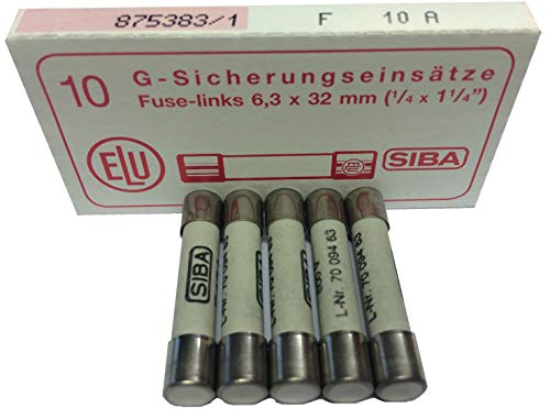 QUICK BLOW CERAMIC Price for 10 10A 6.3X32MM SIBA   70-065-63 10A   FUSE