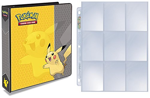 Ultra Pro Pokemon Pikachu 3-Ring Binder with 25 Platinum 9-Pocket Pages